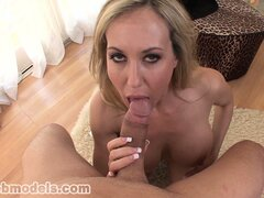 The milf seizes the chance to wrap her lips around a big cock and makes the most of it