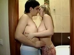 Bathroom fucking in free sex tube video