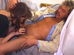 Horny sexy milf fucked hard on her hairy pussy