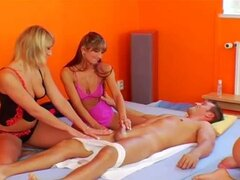 Massage classes turning into an orgy