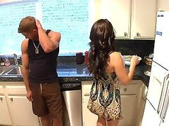 Horny housewife Mrs West guest go wild