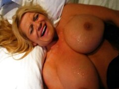 Mega Titted Wife Giving A Hot Handjob