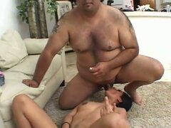 Hot latin slut lena juliette serving small cock from fat dude