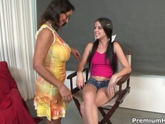 Lucky with her mom lesbian Bonnie Skye