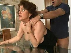 Mature Woman With Big Tits Leaves Trails A Of Slob On A Big Cock