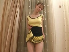 Beata dance undress and pussy opening