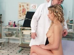Gynecologist with young patient