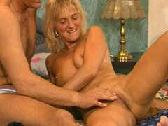 Hot blonde fucked by hard cock