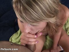 Tracy Zhora playing cock sucking game