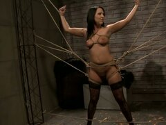 Tied Up Brunette Getting Tortured and Fucked in Wild BDSM Clip