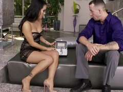 Asa Akira lets a guy lick her toes before he rips her pussy apart