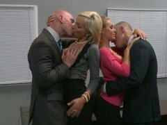 Lexi Swallow and Nicole Aniston get down to business