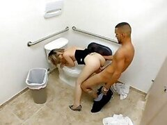 Suck and fuck in bathroom