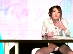 Pretty Looking Asian Haruka Kitagawa Sucks Cock and Gets Showered in Cum
