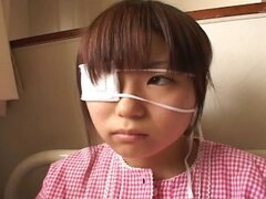 Japanese teen with an eye patch gets examined and felt up