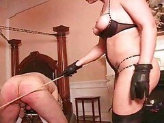 Painful caning for the male submissive