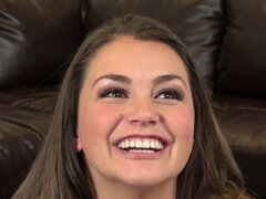 Allie Haze likes getting close to the camera and flips the bird to the cameraman