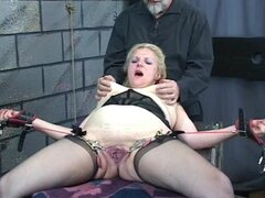 Sweet blonde is licking feet of her perverted sister