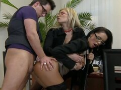 Office Threesome Video