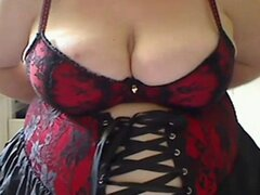 Fat BBW GF wearing a corset...