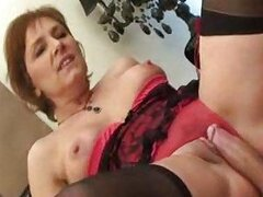 Hot mother in law in lingerie fucked lustily
