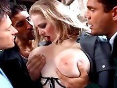 Big Titty Blonde Gets Ass-Fucked During Gangbang