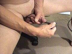 cumming through penis plug