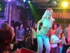 Girls strip nude at party