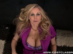 Voluptuous blonde milf with huge boobs Julia Ann knows her way around a big cock