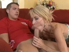Superb milf Erica Lauren swallows a savory dick and begs for more