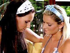 Two smoking hot housewifes are having a hot lesbian sex