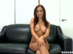 Attractive babe Bella Sianna masturbates with a dildo and gives a blowjob