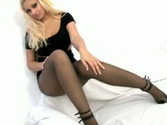 Busty blonde whore sucks big dick