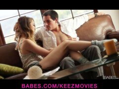 Stunning petite teen Jessie Andrews seduces her man