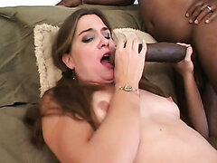 Couple of black monster cocks fuck Angelina's tight soaking snatch