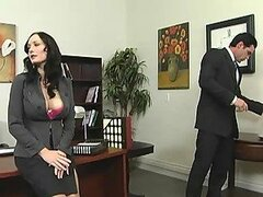 Gorgeous Secretary Titty Fucks Her Boss In The Office
