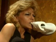 Hot Stewardess Gets Nailed In Bathroom