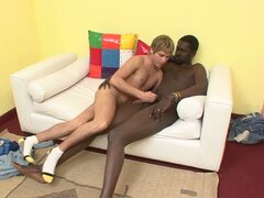 White twink gets pounded by african stud