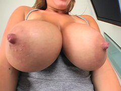 Busty Brandy Talore sucks big dick and fucks like wild animal