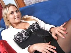 Hot blonde Alanah Rae drilled by hard cock