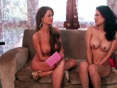 Interview with topless chicks talking cute