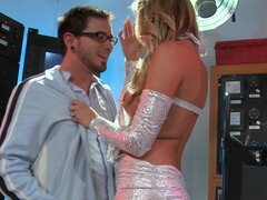 HOT blond scientist Samantha Saint rides her lab assistant's cock