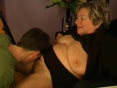 His first granny pussy