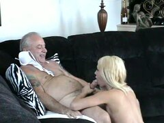 Uncle jesse gets a crazy blonde to suck him and fuck