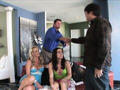 Teen gets a double dose of fun from a naughty married couple