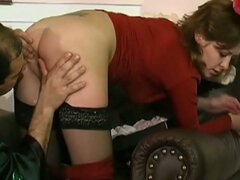 Hot secretary gets banged by the boss at home