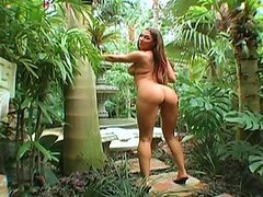 Busty Rachel walks out of the Jungle and gets fucked