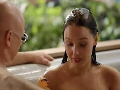 Celeb camilla luddington nude in hottub bare breasts