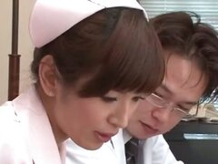 Cute Japanese teen nurse in pantyhose part5