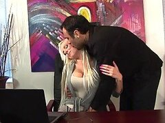 Releasing Office Stress Having Sex with Slutty Blonde Giselle Monet